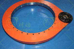 S-III-O-1120 three series heavy load crossed roller external gear full protection spur gear slewing drive