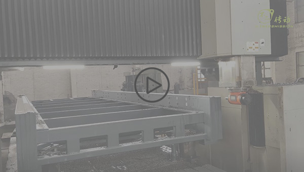 Processing the machine body of the laser cutting machine
