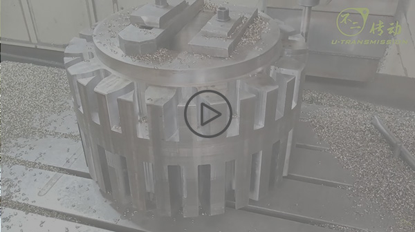 Milling process video of large modulus gear with 40 modulus and 15 teeth