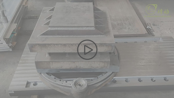 Precision spur gear slew drive loading test