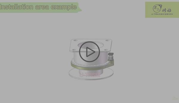 External gear same direction spur gear slew drive working 3D video show