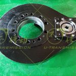 Small spur gear slew drive used in automation equipment