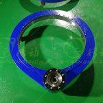 External gear reverse flange precision spur gear slewing drive