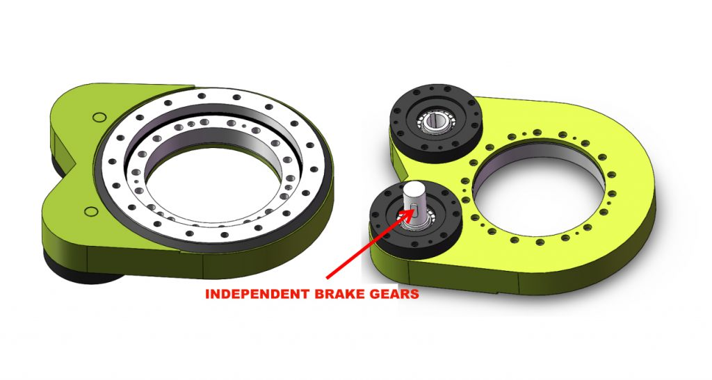 Locking Devices Driven Of Spur Gear Slewing Drive