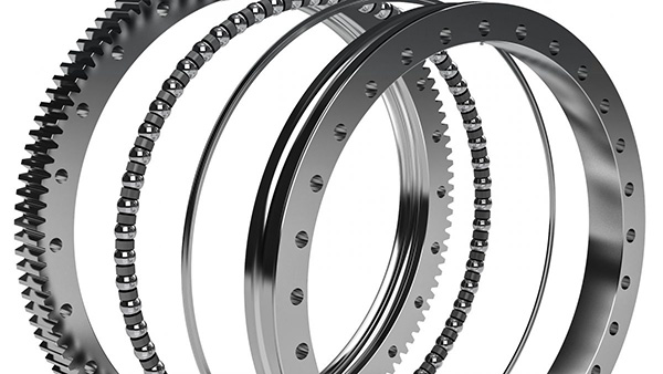 Exploded view of slewing bearing