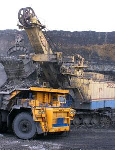 Large excavator