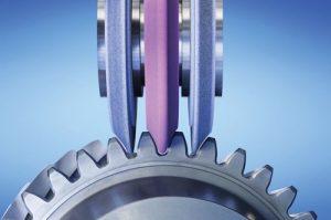 Slewing bearing gear grinding