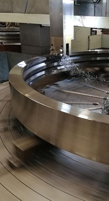 Slewing bearing machining
