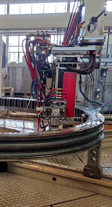 Slewing ring tooth quenching